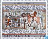 Postage Stamps - San Marino - Etruscan art