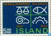 Postage Stamps - Iceland - Chamber of Commerce 1917-1967
