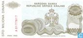 Banknotes - Narodna Banka Republike Srpske Krajine - Serbian Krajina 100 Million Dinara