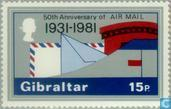 Postage Stamps - Gibraltar - Airmail 1931-1981