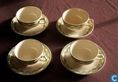 Keramik - Carlotta - Kaffee Tas mit Teller
