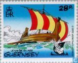 "Briefmarken - Guernsey - Operation ""Asterix"""