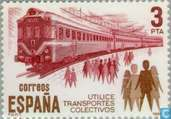 Postage Stamps - Spain [ESP] - Public transport