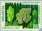 Postage Stamps - Switzerland [CHE] - Forest law 100 years