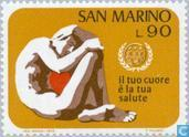 Briefmarken - San Marino - World Heart Monat