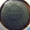 Netherlands 10 cent 1849 (without dot)