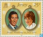 Timbres-poste - Jersey - Mariage Prince Charles et Diana