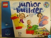 Jeux de société - Junior Builder - Junior Builder  (met 20 grote Lego stenen)