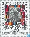 Briefmarken - Liechtenstein - Johannes Gutenberg