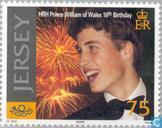 Timbres-poste - Jersey - Prince William anniversaire-18 années