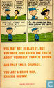 Bandes dessinées - Peanuts - You're a brave man, Charlie Brown