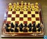 Jeux de société - Schaak - Schaakspel met houten schaakstukken