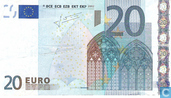 Banknotes - Eurozone - 2002 Dated 'Signature J.C. Trichet' Issue - Eurozone 20 Euro P-G-T