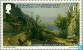 Postage Stamps - Guernsey - Le Lievre Paintings