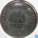 Monnaies - Pays-Bas - Pays Bas 25 cent 1943 (zinc)