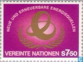 Timbres-poste - Nations unies - Vienne - sources d'énergie alternatives