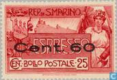 Postage Stamps - San Marino - Espresso with imprint