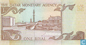 Billets de banque - Qatar Monetary Agency - Riyal Qatar 1