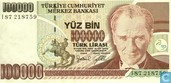 Banknoten  - Türkei - 7th Emission - Türkei 100.000 Lira ND (1997/L1970) P206