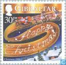 Postage Stamps - Gibraltar - Christmas and New Years wishes