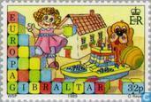 Postzegels - Gibraltar - Europa – Kinderspelen