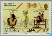 Postage Stamps - Jersey - Comet Halley