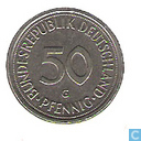 Coins - Germany - Germany 50 pfennig 1989 (G)