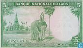 Billets de banque - Banque Nationale du Laos - Kip Laos 5 [9b]