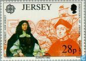 Briefmarken - Jersey - Europa – Entdeckung von Amerika