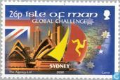 Postage Stamps - Man - Sail Around the World