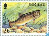 Postage Stamps - Jersey - Europe – Water, treasure of nature