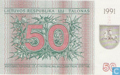 Banknoten  - Lietuvos Bankas - Litauen 50 Talonas