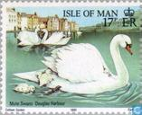 Postage Stamps - Man - Swans