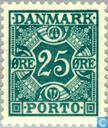 Postzegels - Denemarken - Cijfer en vier kronen