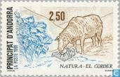 Timbres-poste - Andorre - Poste française - Protection de la nature