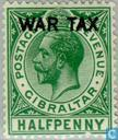 Postage Stamps - Gibraltar - War Surcharge