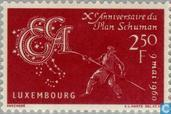 Postage Stamps - Luxembourg - Schuman plan
