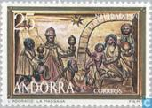 Postage Stamps - Andorra - Spanish - Christmas - Paintings