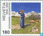 Postage Stamps - Switzerland [CHE] - Giovanni Segantini, 150th anniversary of his death