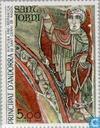 Postzegels - Andorra - Frans - Religieuze kunst