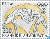 Timbres-poste - Grèce - Jeux Olympiques 100 années