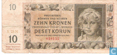 Moravie Bohême 10 couronnes