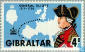 Postage Stamps - Gibraltar - Elliot, George August 1717-1790