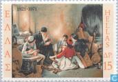 Postage Stamps - Greece - Revolt 1821