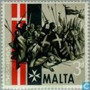 Postage Stamps - Malta - Liberation great siege 400 years