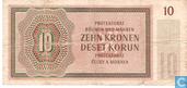 Billets de banque - Serie A, N - Moravie Bohême 10 couronnes