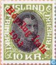 Timbres-poste - Islande - 1000 vert / noir
