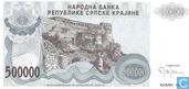 Krajina serbe 500.000 Dinara