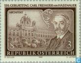Postzegels - Oostenrijk [AUT] - C. Freiherr Hasenauer, 150 jaar