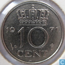Netherlands 10 cents 1971